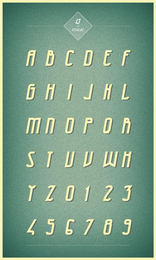 free Typeface font vintage Moinzek