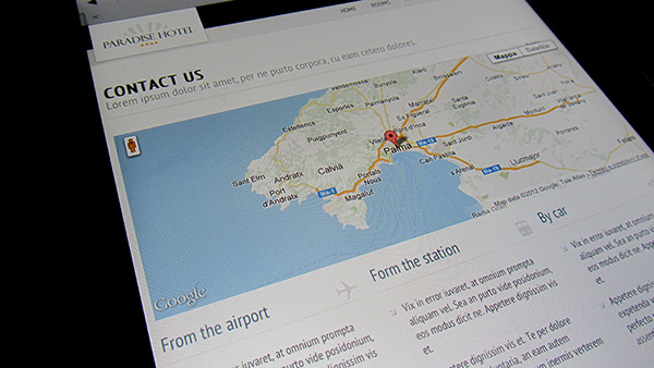 responsive site template hotel site template Travel tourism