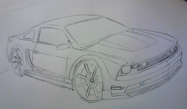 Muscle Cars Mustang Drawings Mustang Muscle Car Drawing