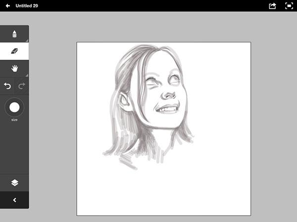 portrait female eyes smile