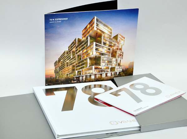 V Raheja, 78 W  Expressway, Brochure Design on Behance