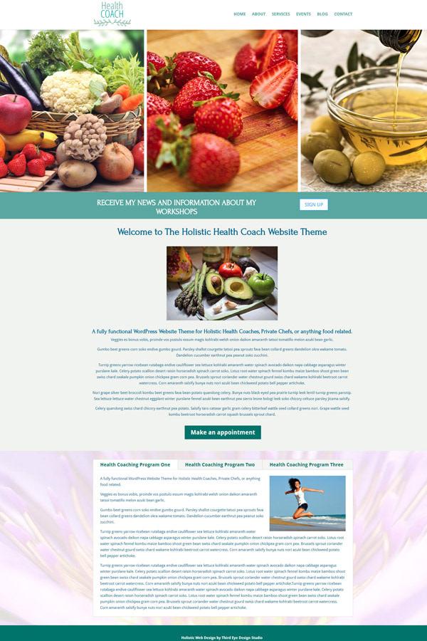 Holistic Health Coach >> Holistic Health Coach Nutrition Wordpress Th On Behance