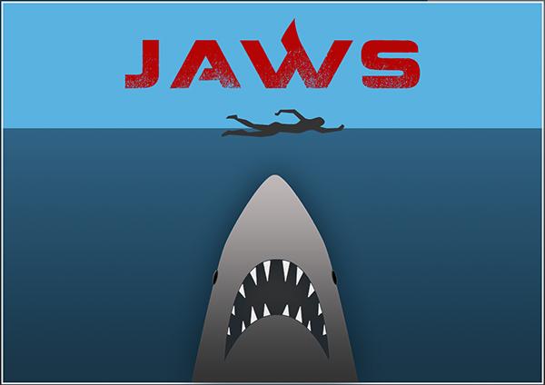 Jaws Minimal Tribute Poster   New Logo On Behance