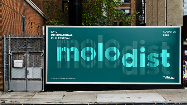 "Identity for film festival ""Molodist"""