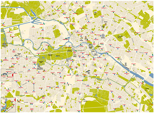 Berlin street map on behance for Grafik design jobs berlin