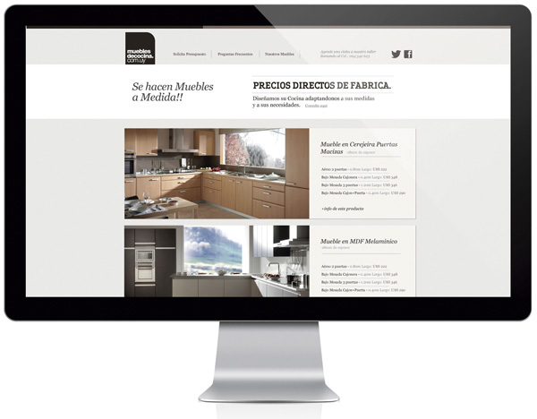 Muebles de cocina web site on behance for Web de muebles