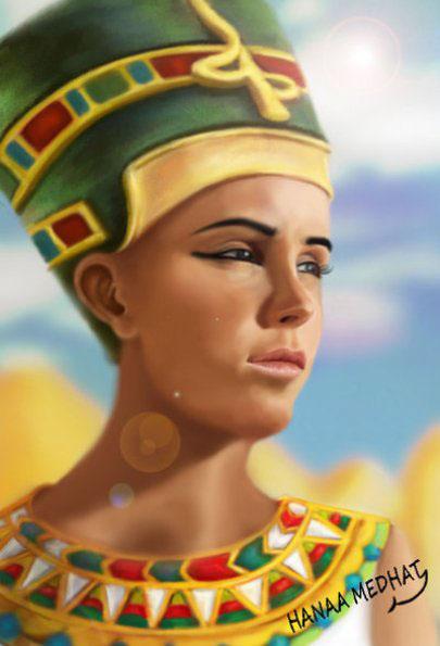 Nefertiti -digital painting on Behance