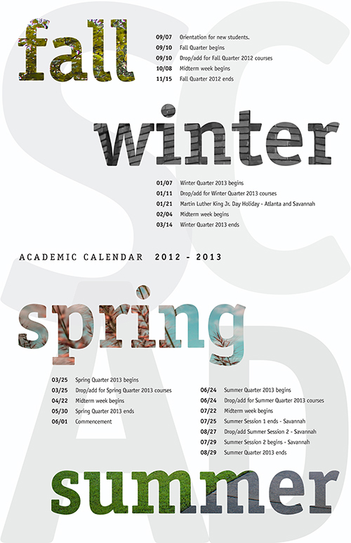 Pictures of Scad Calendar Fall 2021