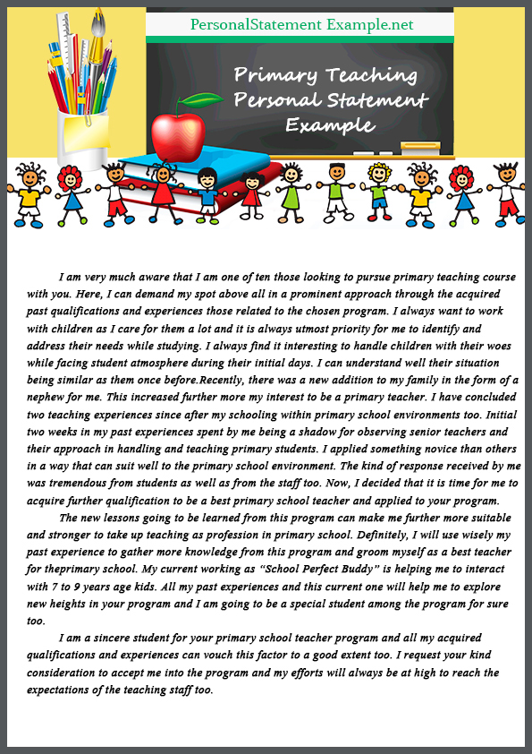 teaching assistant personal statement examples