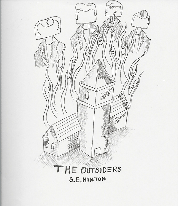The Outsiders Book Cover Ideas : The outsiders book design on behance