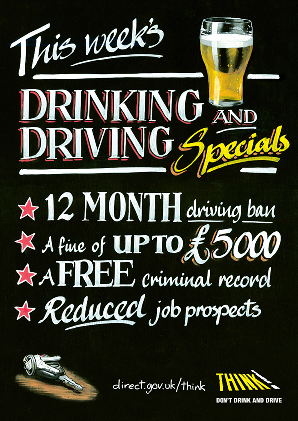 Think Drink Driving Posters