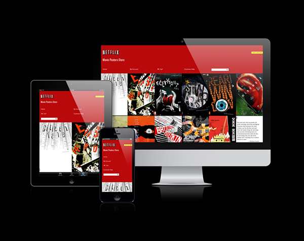 netflix movie posters store 2013 on behance