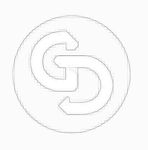 logo design contemporain new gd Guillaume DUBAS pure minimalist