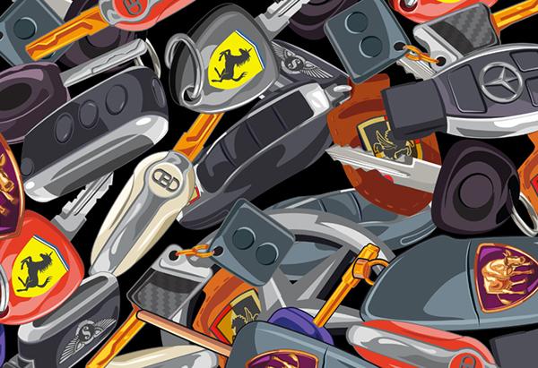 Luxury Car Keys Pattern Sprayground Backpack On Pantone Canvas Gallery