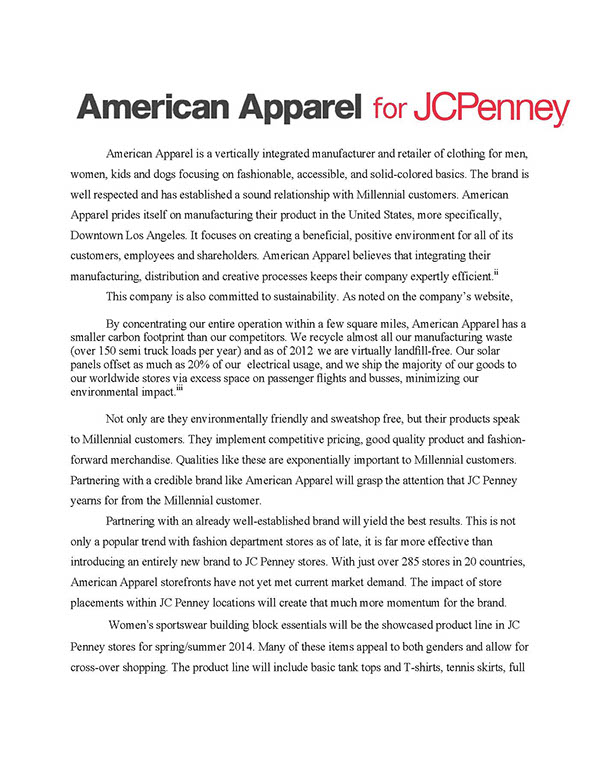 jc penney case study Jcpenney takes big & tall to new heights with shaquille o'neal xlg  j c  penney company, inc one of the nation's largest apparel and home retailers,.