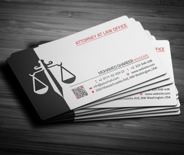 Creative lawyer business card 2 on behance reheart Images
