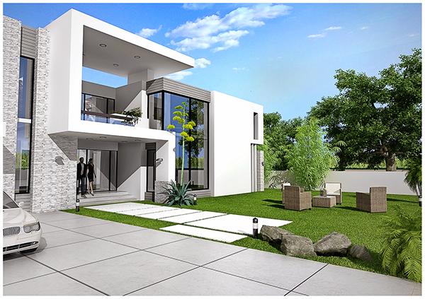 Residential exterior design 39 s on behance for Exterior 3ds max model