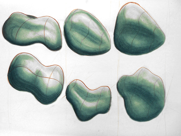 Amorphous Form Sketches on Pratt Portfolios