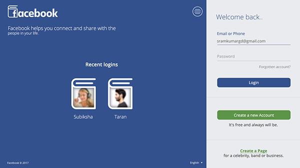 Facebook login page redesign    on Behance