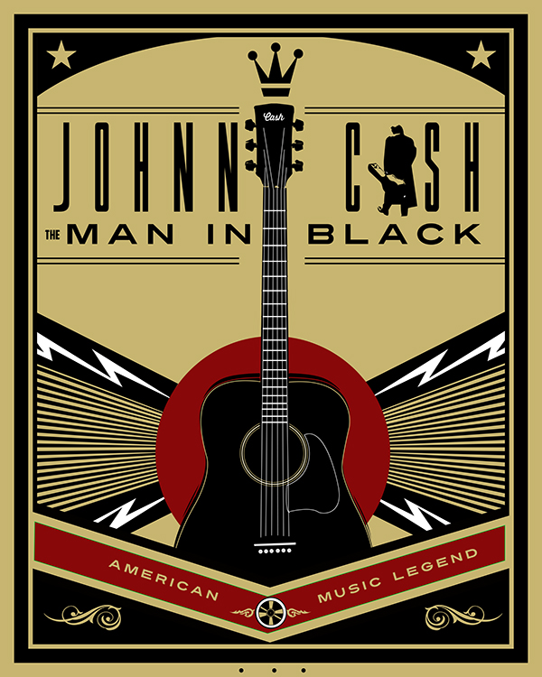 johnny cash posters on behance. Black Bedroom Furniture Sets. Home Design Ideas