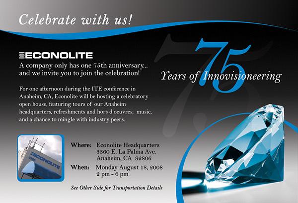 Econolite 75th anniversary on behance invitation to the corporate anniversary celebration stopboris Image collections