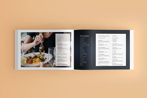 Restaurant Menu Book Design