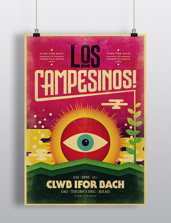 Los Campesinos posters on Behance