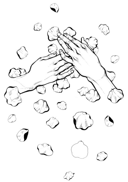 t-shirt Thorn Roses hands