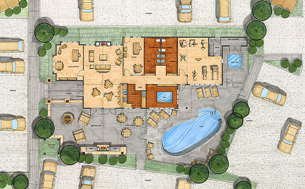Floor plan on behance for Site plan drawing online