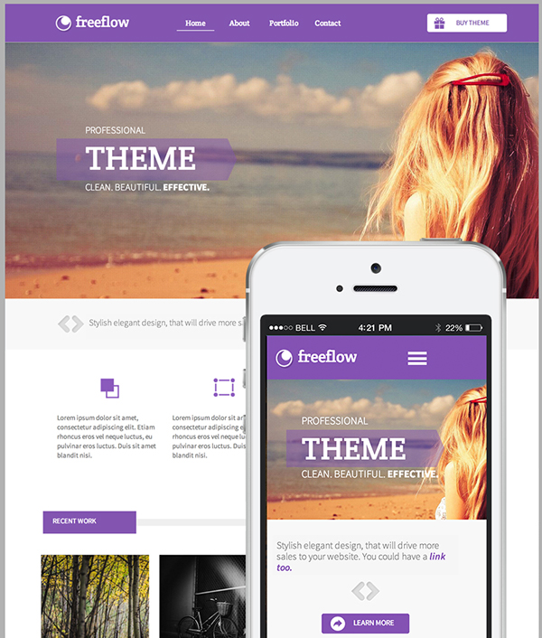 Freeflow Adobe Muse Website Template On Behance - Adobe muse website templates