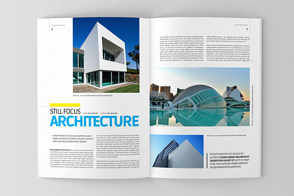 Architecture magazine template on behance for Free architecture magazines