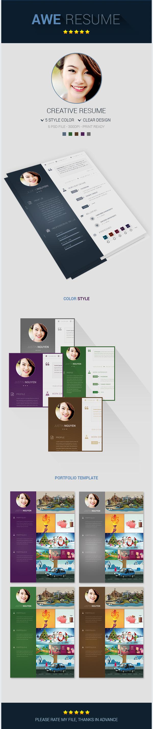 freebie psd premium resume template on behance