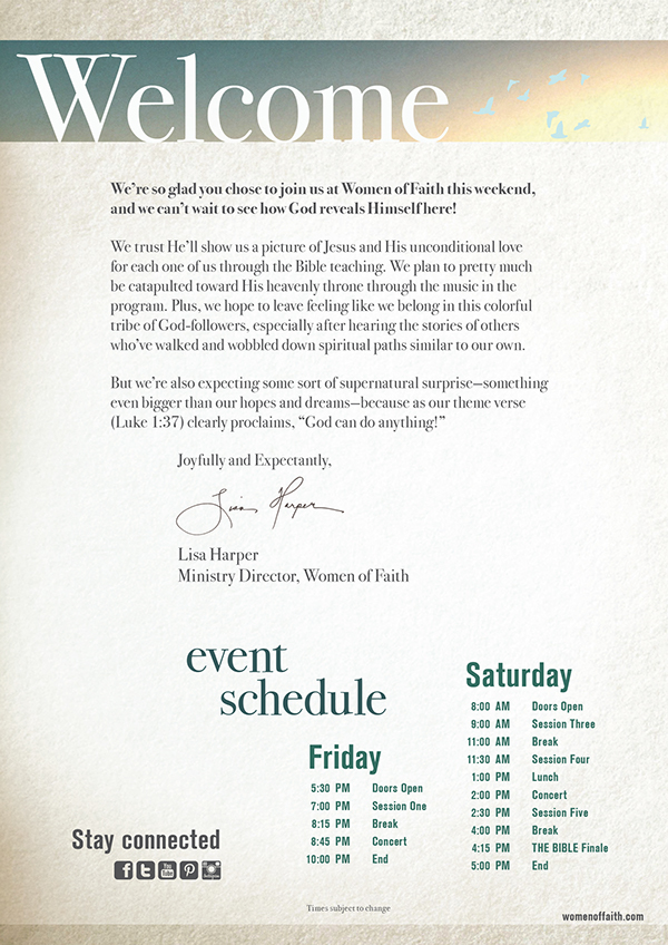 Women Of Faith 2013 Event Material On Behance