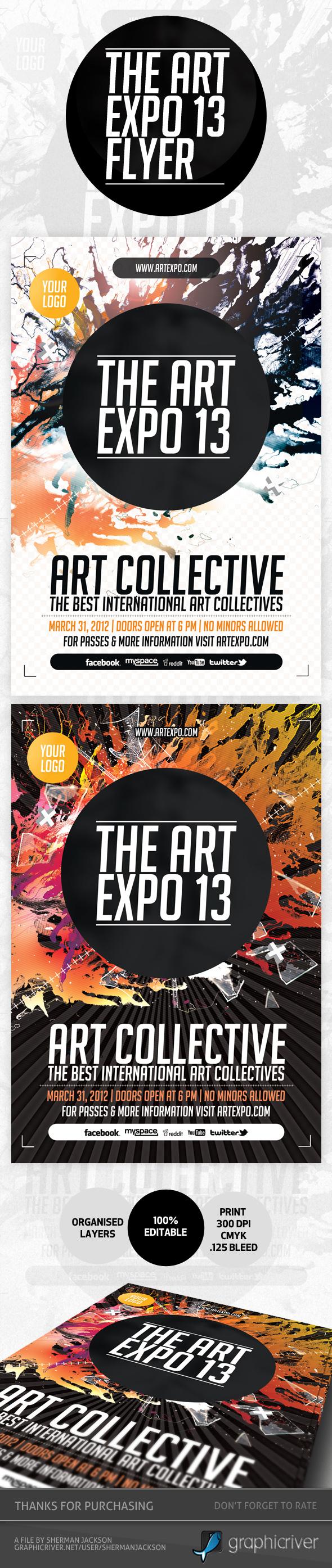 art expo art show event flyer template psd on behance