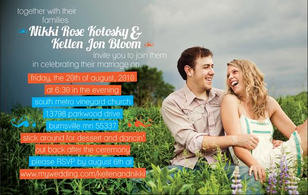 Wedding Invites Design Layout color