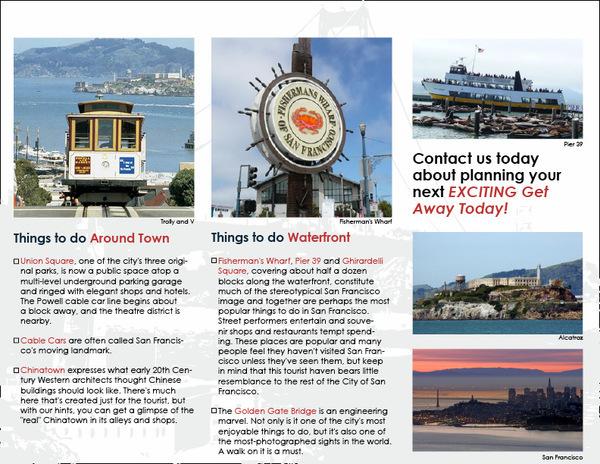 non fiction travel brochure book report