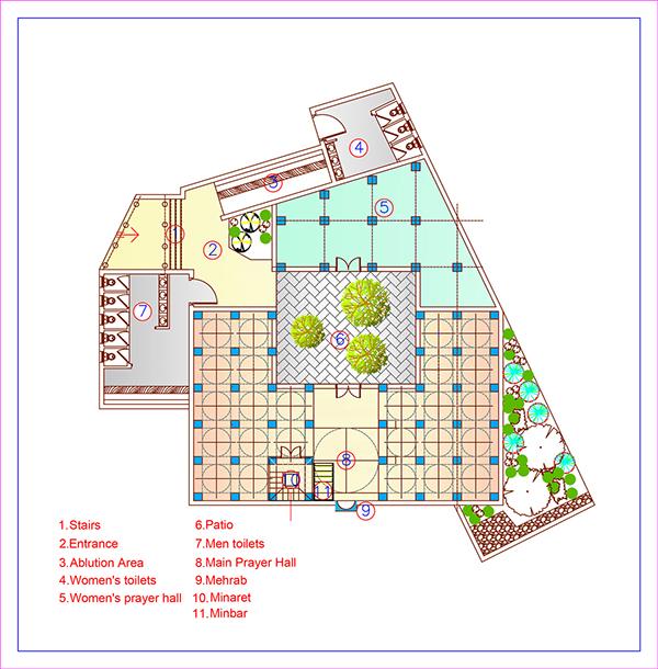 masjid plan layouts on behance