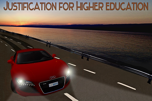 Justification for Higher Education Poster on Behance