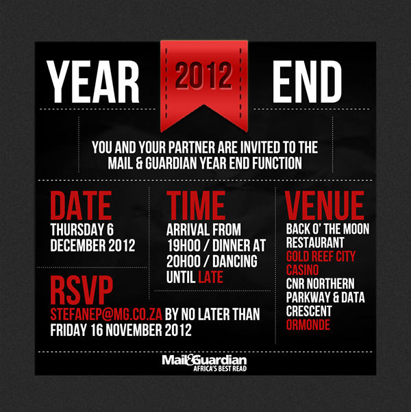 Year End Invitation Card On Behance