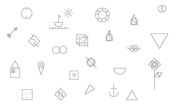 simple line dainty cute minimal logo icons