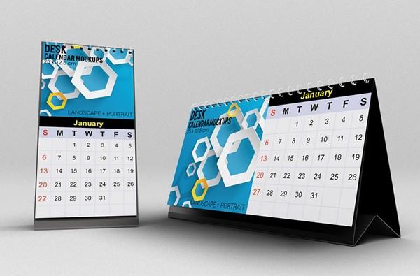 Calendar Typography S : Desk calendar mockups on behance