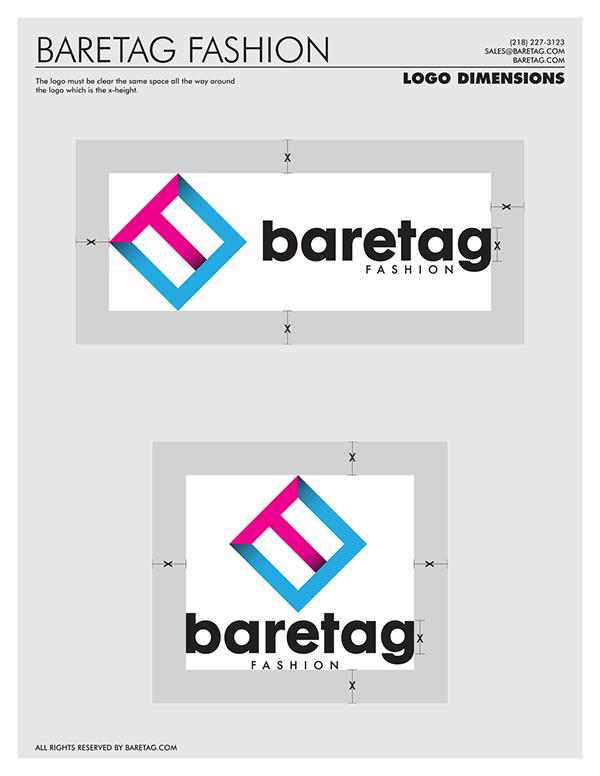 baretag fashion logo design on behance