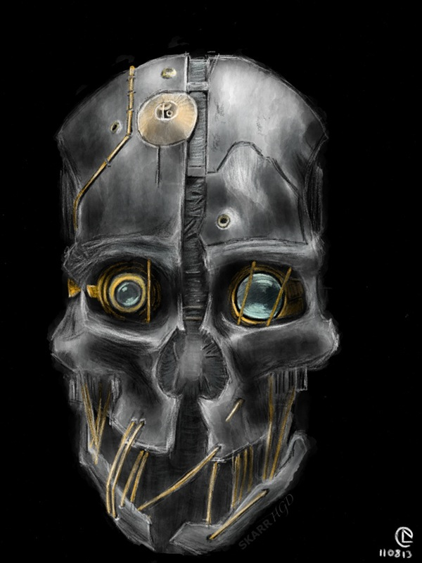 Dishonored Mask Drawing Wallpaper backgrounds 600x836 px HD Desktop Wallpapers