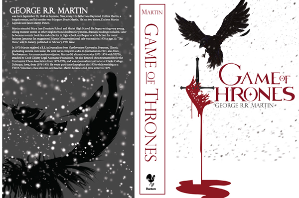 Book Cover Design Of Art : Game of thrones book cover design on behance