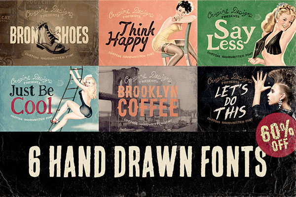 6 Hand Drawn Fonts On Behance