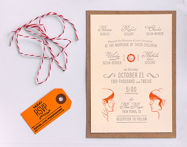 Hitched Wedding Invitations: Wes & Mickey Are Getting Hitched! On Behance