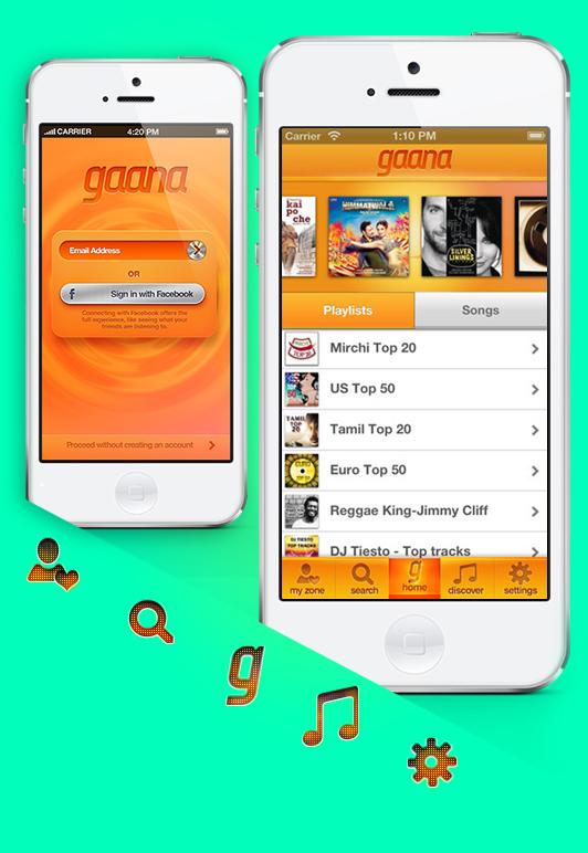 Gaana App for iOS on Behance
