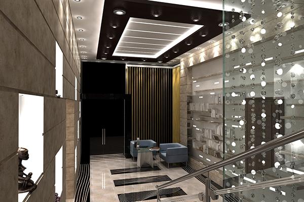 Modern villa decoration on behance for Decoration villa moderne