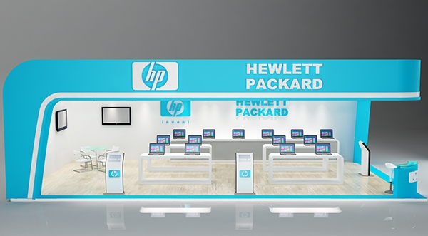 Exhibition Stand Vray : Hp exhibition stand concept made im d max vray on