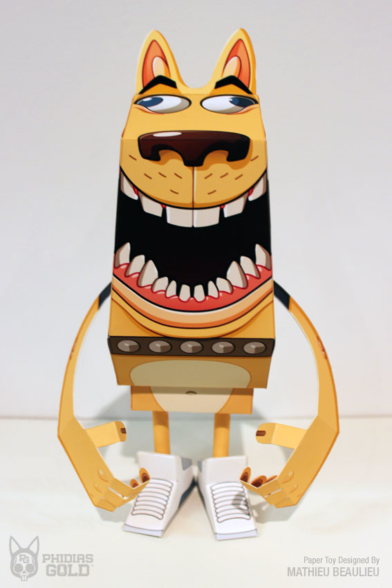 paper toy yellow dog on wacom gallery